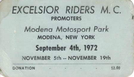Excelsior Riders Modena Admission Ticket